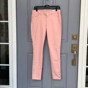 Pink mid-rise Skimmer Jeans